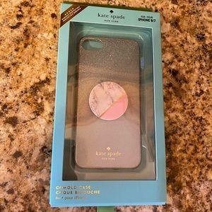 Kate Spade iPhone 7 / 8 case glitter ombré
